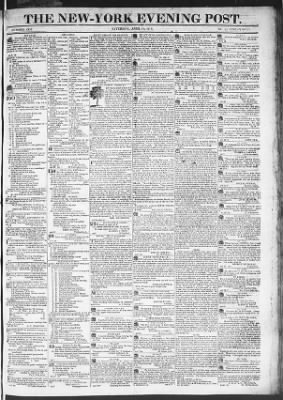 The Evening Post from New York, New York on April 11, 1818 · Page 1