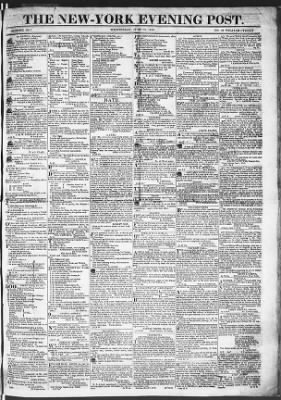 The Evening Post from New York, New York on June 24, 1818 · Page 1