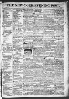 The Evening Post from New York, New York on July 31, 1818 · Page 1