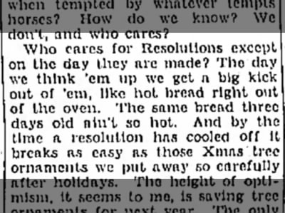 Nina Wilcox Putnam on Resolutions, 1933