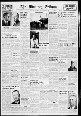 The Winnipeg Tribune from Winnipeg,  on September 27, 1943 · Page 13