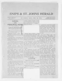 Sample Snips and The St Johns Herald front page
