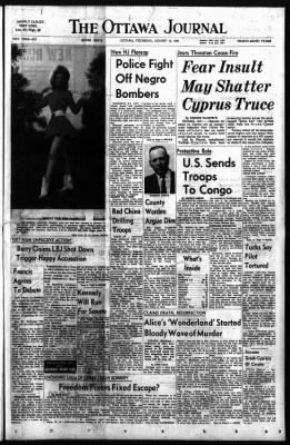 The Ottawa Journal from Ottawa,  on August 13, 1964 · Page 1