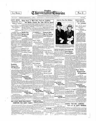 The Daily Courier from Connellsville, Pennsylvania on March 8, 1939 · Page 1