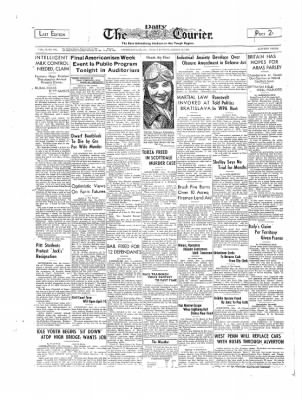 The Daily Courier from Connellsville, Pennsylvania on March 10, 1939 · Page 1