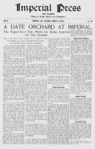 Sample The Imperial Press front page