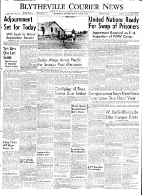 The Courier News from Blytheville, Arkansas on August 3, 1953 · Page 1