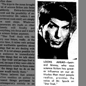 Leonard Nimoy, the voice of Mr. Spock