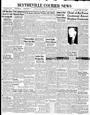 The Courier News from Blytheville, Arkansas on November 7, 1947 · Page 1