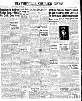 The Courier News from Blytheville, Arkansas on December 5, 1946 · Page 1