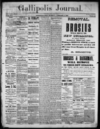 Sample Gallipolis Journal front page