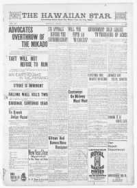 Sample The Hawaiian Star front page