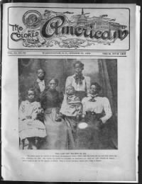 Sample The Colored American front page