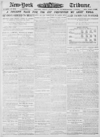 Sample New-York Tribune front page