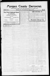 Sample Morgan County Democrat front page