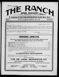 Sample Ranche and Range front page