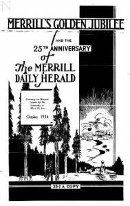 Sample The Merrill Daily Herald front page