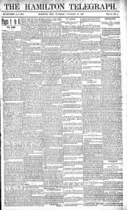 Sample The Hamilton Telegraph front page