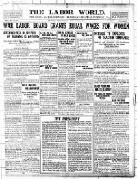 Sample The Labor World front page