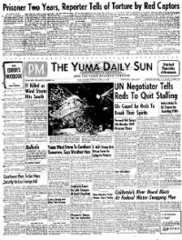 Sample The Yuma Daily Sun front page