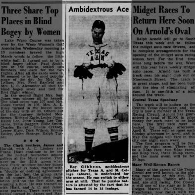 Ambidextrous Ace - Roy Gibbens, Texas A&M 1947