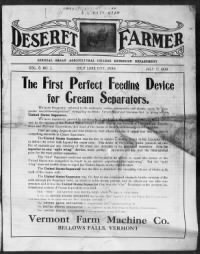 Sample Deseret Farmer front page
