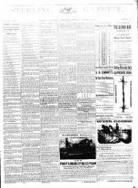 Sample Sterling Gazette front page