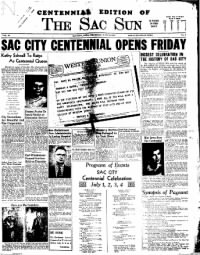 Sample The Sac Sun front page