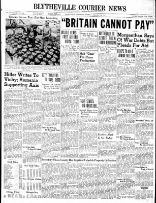 The Courier News from Blytheville, Arkansas on January 28, 1941 · Page 1