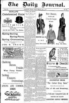 Logansport Pharos-Tribune from Logansport, Indiana on May 1, 1891 · Page 1