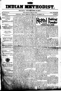 Sample Indian Methodist front page