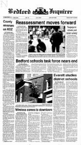 Sample Bedford Inquirer front page