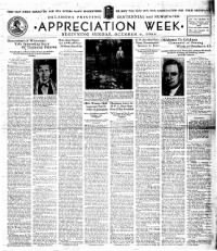 Sample Appreciation Week front page