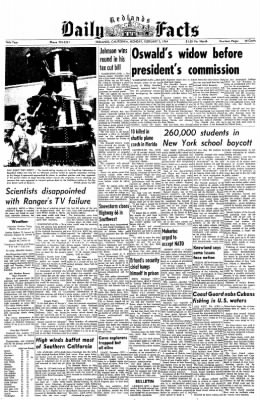 Redlands Daily Facts from Redlands, California on February 3, 1964 · Page 1