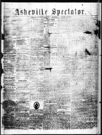 Sample Asheville Spectator front page