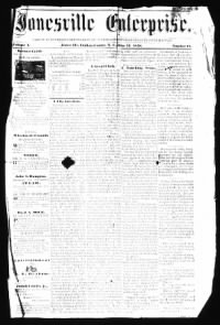 Sample Jonesville Enterprise front page