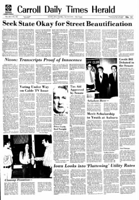 Carrol Daily Times Herald from Carroll, Iowa on April 30, 1974 · Page 1