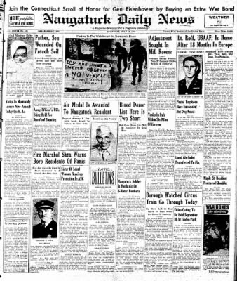 Naugatuck Daily News from Naugatuck, Connecticut on July 15, 1944 · Page 1