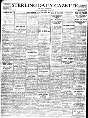 Sterling Standard from Sterling, Illinois on November 20, 1916 · Page 1