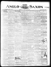 Sample The Anglo-Saxon front page