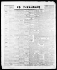 Sample The Weekly Commonwealth front page