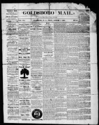 Sample Goldsboro Mail front page