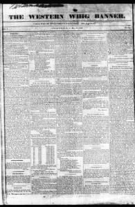 Sample The Western Whig Banner front page