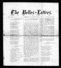 Sample The Belles Lettres front page