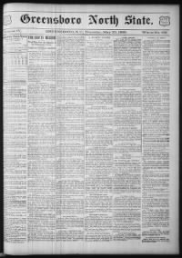 Sample Greensboro North State front page