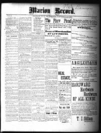 Sample Marion Record front page