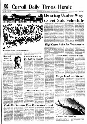 Carrol Daily Times Herald from Carroll, Iowa on June 25, 1974 · Page 1