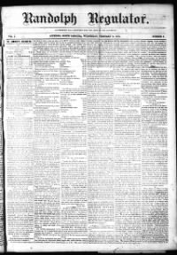 Sample Randolph Regulator front page
