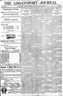 Logansport Pharos-Tribune from Logansport, Indiana on August 11, 1896 · Page 1