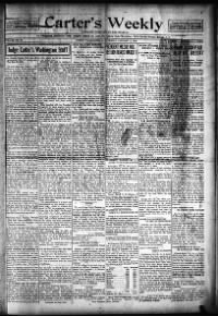 Sample Carter's Weekly front page
